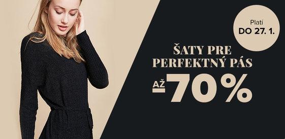 Až -70 % na šaty pre perfektný pás