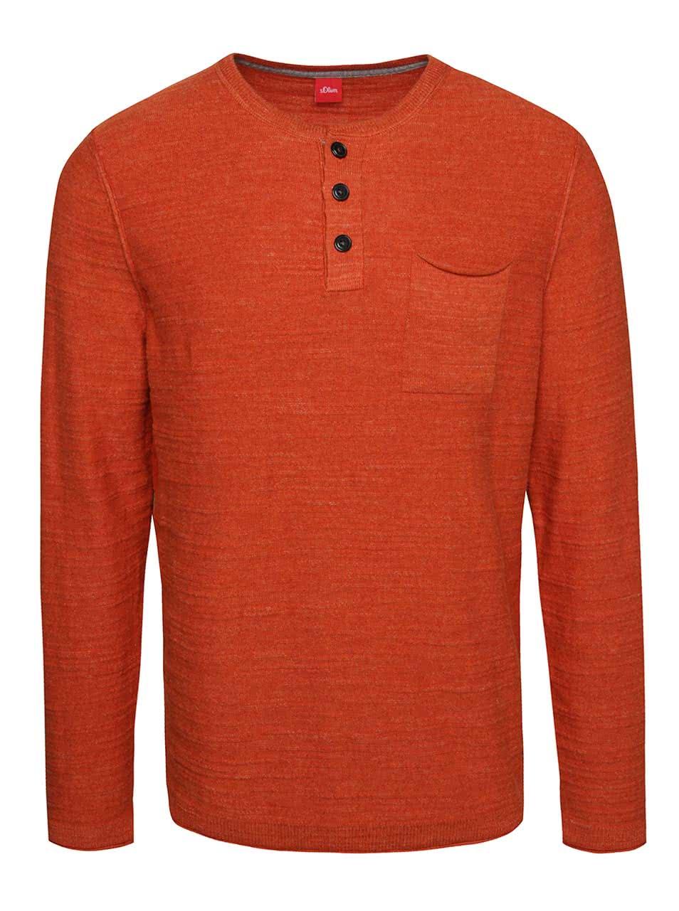 Bluza portocalie s.Oliver din jerseu