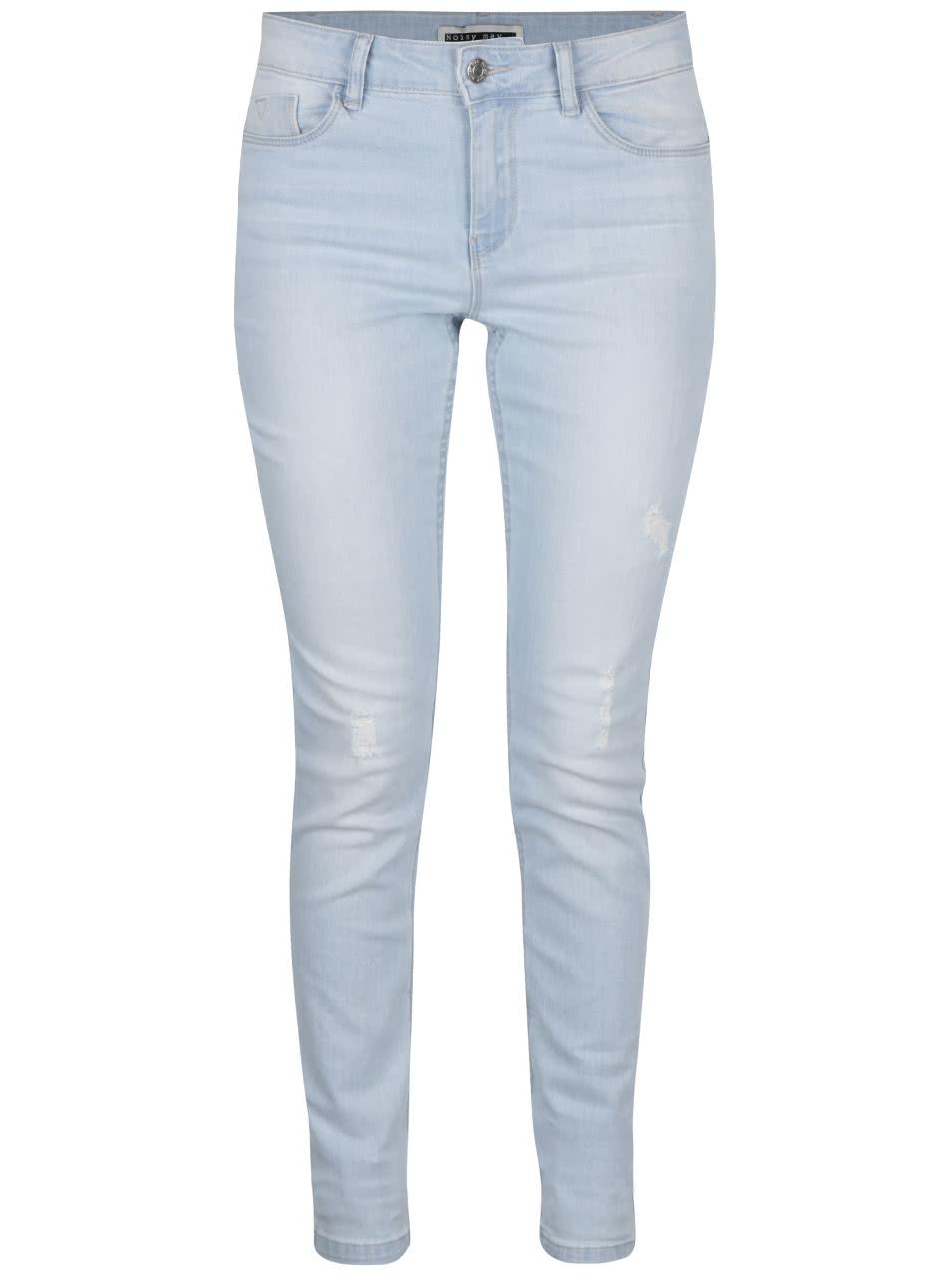 b5dc3a6a687 Světle modré slim fit džíny s potrhaným efektem Noisy May Lucy