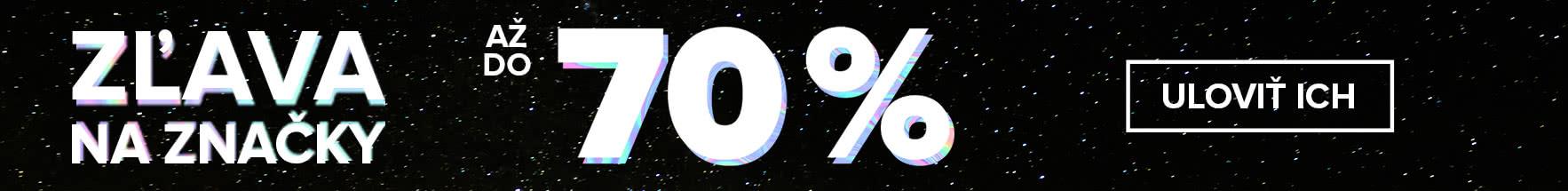 Zľava na značky až 70 %