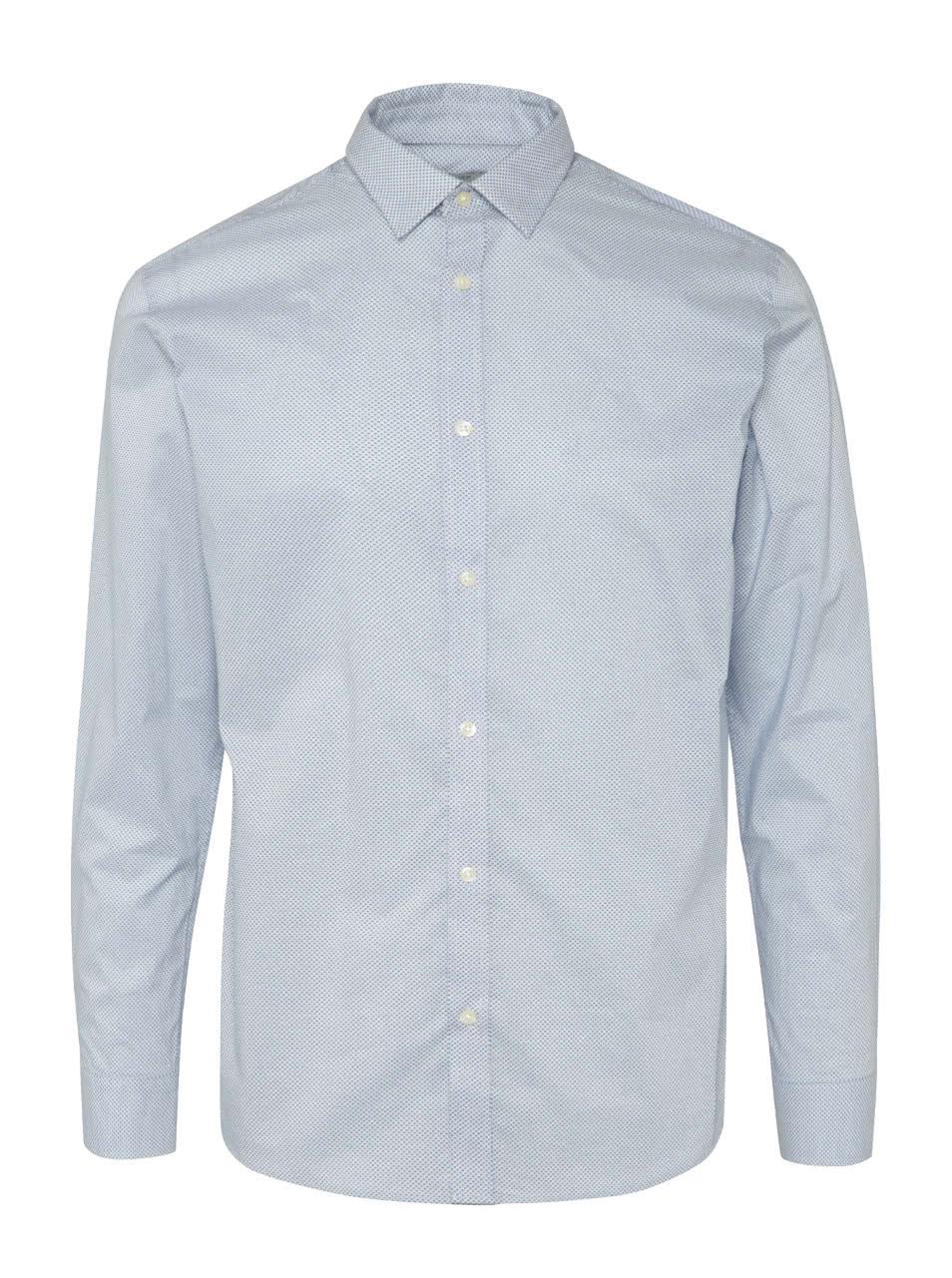 Světle modrá vzorovaná košile Jack   Jones Blackpool  83f79a8d2b