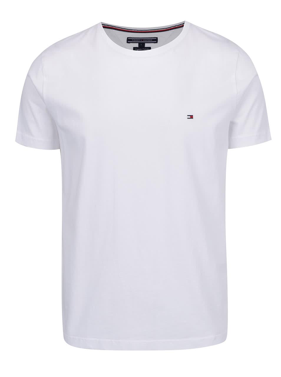 Bílé pánské basic triko Tommy Hilfiger  b791520b598