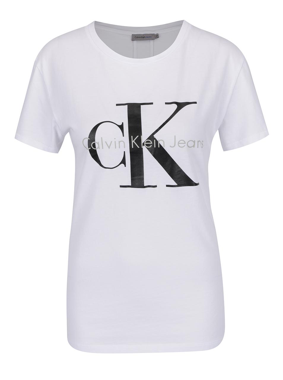 ca9fb561d2 Bílé dámské tričko Calvin Klein Jeans Shrunken