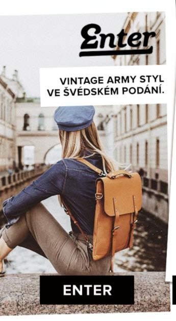 Vintage army styl ve švédském podání. ENTER >