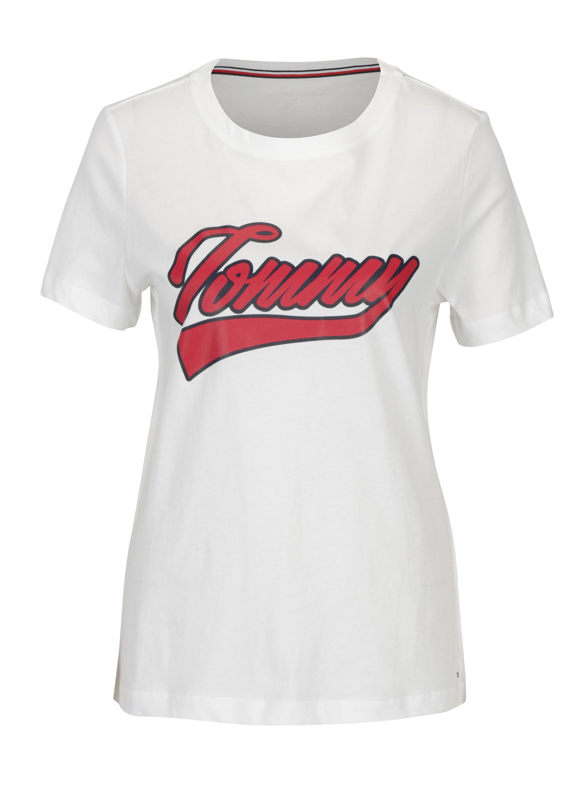 30b554affcc Bílé dámské tričko s potiskem Tommy Hilfiger Tommy