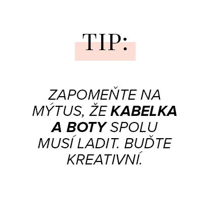 Zapomeňte na mýtus, že kabelka a boty spolu musí ladit. Buďte kreativní.