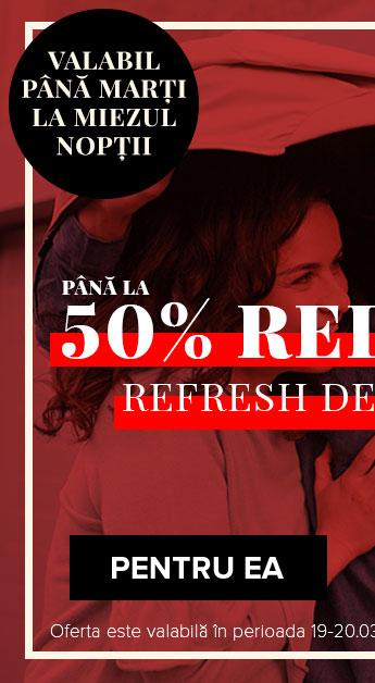 Sale de primavara: Pana la 50% REDUCERE