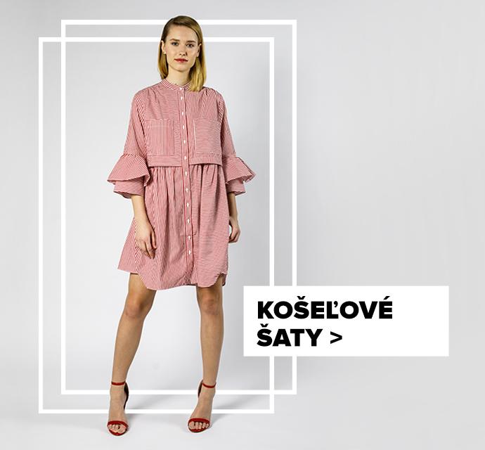 Košeľové šaty - outfit na postave