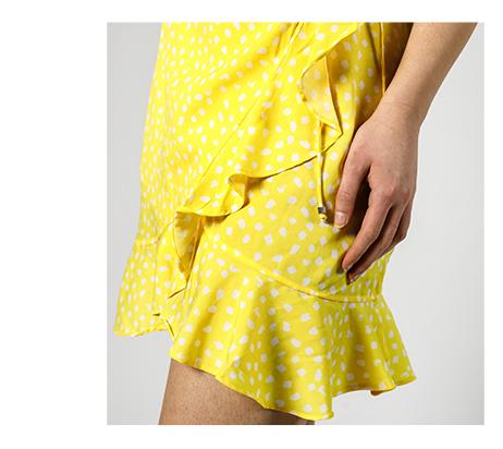 Zavinovací šaty - detail