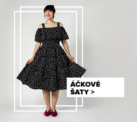 Áčkové šaty - outfit na postavě