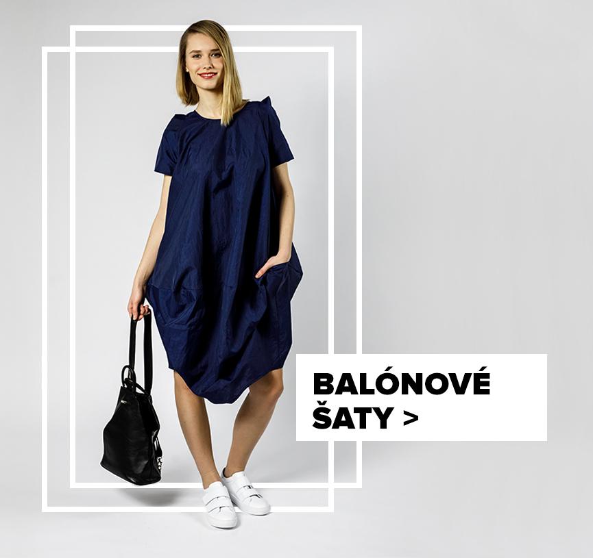 Balónové šaty - outfit na postavě