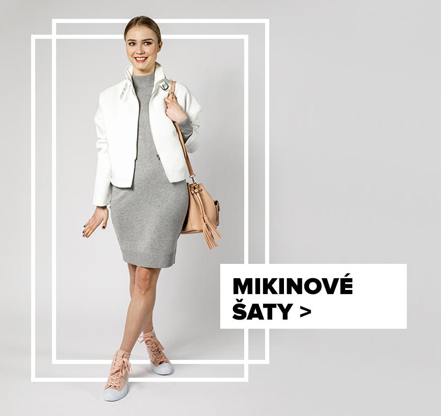 Mikinové šaty - outfit na postavě