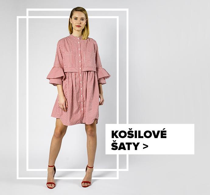Košilové šaty - outfit na postavě