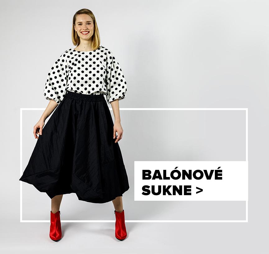 Balónová sukňa - outfit na postave