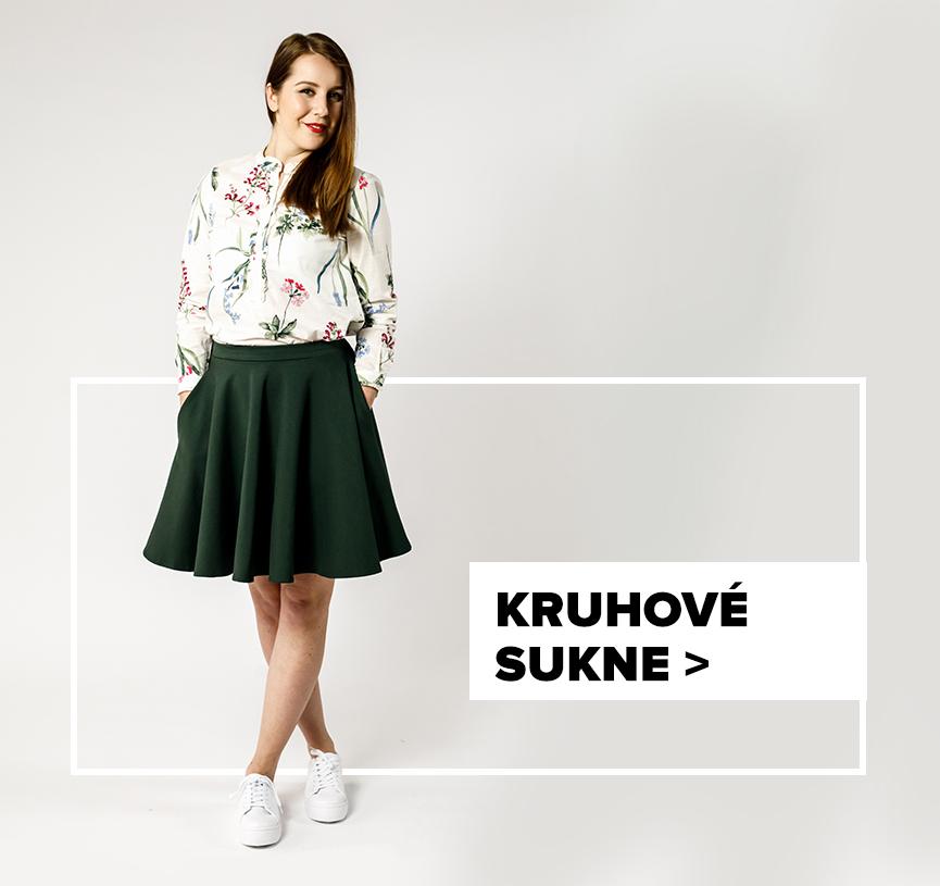 Kruhová sukňa - outfit na postave