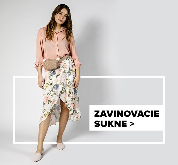 Zavinovacia sukňa - outfit na postave