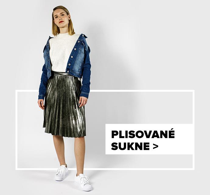 Plisovaná sukňa - outfit na postave
