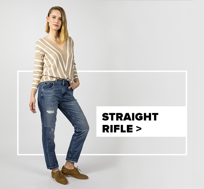 dámske straight rifle - outfit na postave
