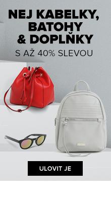 NEJ kabelky, batohy & doplňky s až 40% slevou
