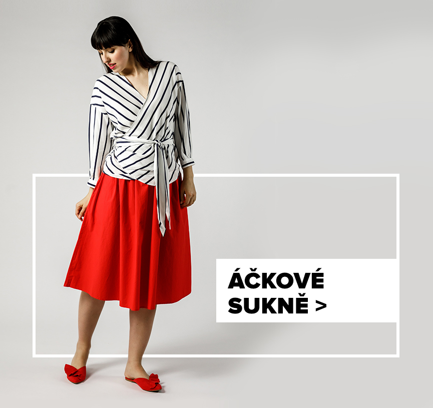 Áčková sukně - outfit na postavě