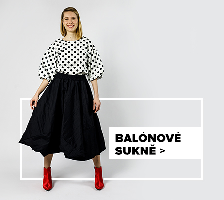 Balónová sukně - outfit na postavě