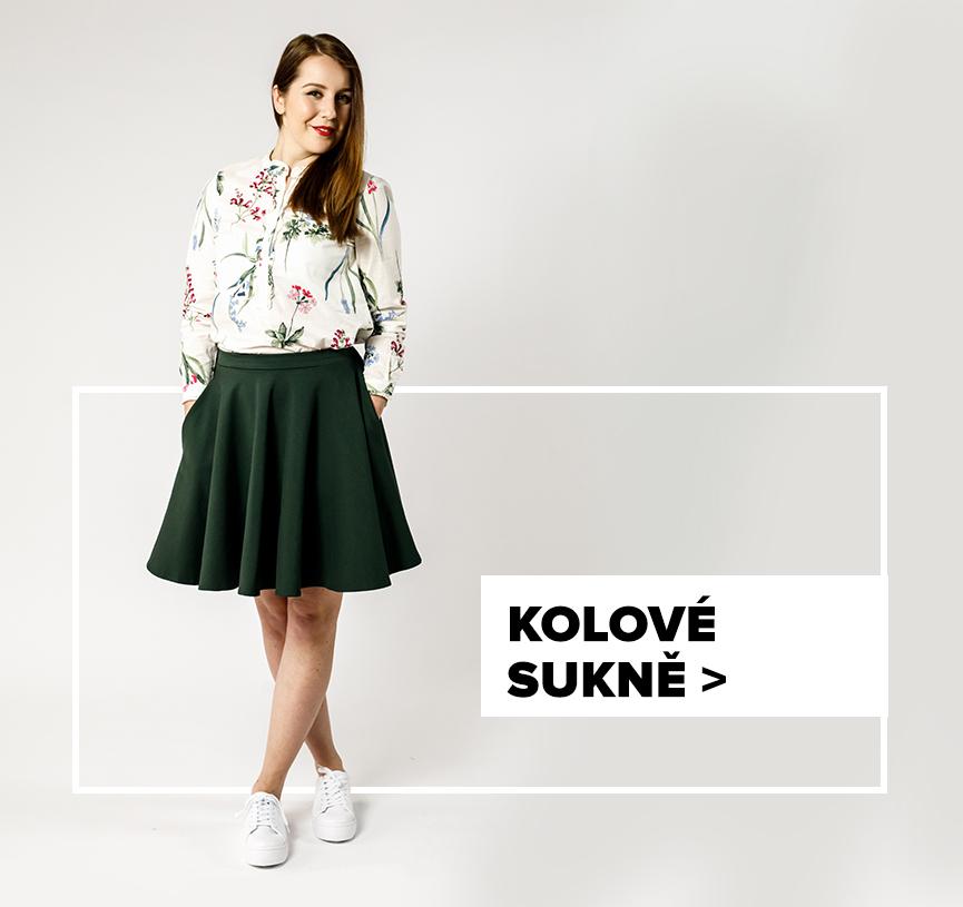 Kolová sukně - outfit na postavě
