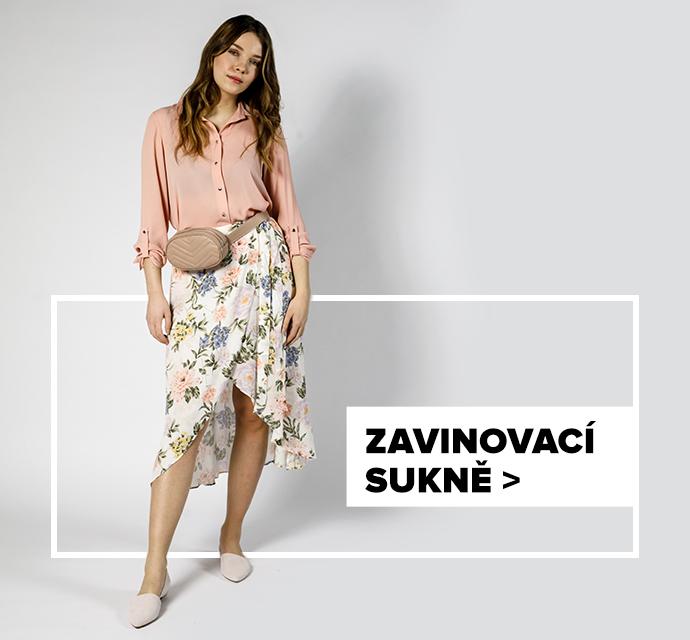 Zavinovací sukně - outfit na postavě