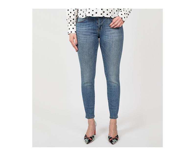 dámské skinny & slim džíny - detail