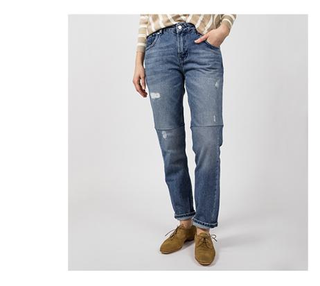 dámské straight džíny - detail