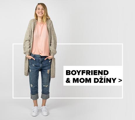 dámské boyfriend & mom džíny - outfit na postavě
