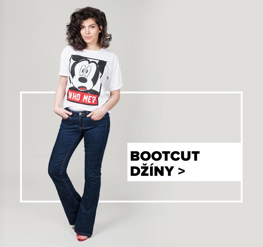dámské bootcut džíny - outfit na postavě