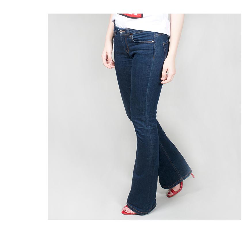 dámské bootcut džíny - detail ... 5af58a256a