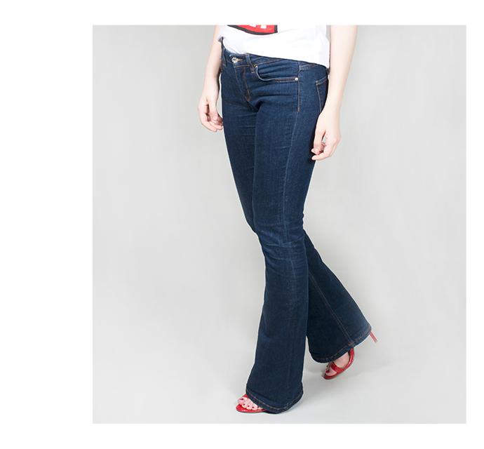 dámské bootcut džíny - detail