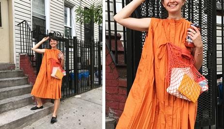 Outfit podle blogerky Zuz: Oranžové šaty