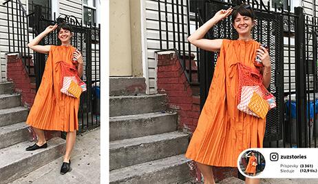 Outfit podľa blogerky Zuz: Oranžové šaty