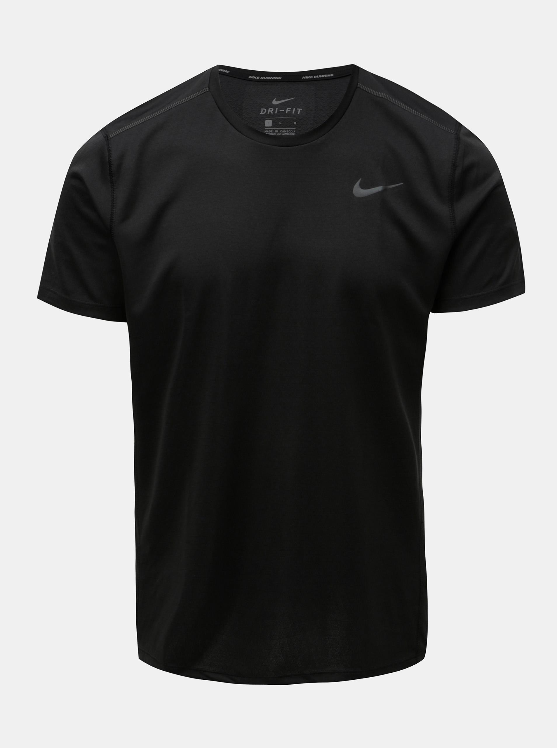 98638e393b Černé pánské funkční tričko Nike Miler