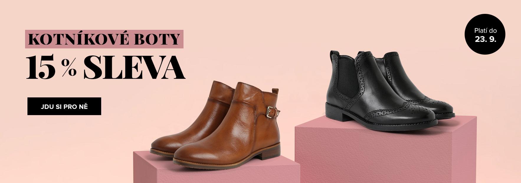 Kotníkové boty s 15% slevou PRO NI