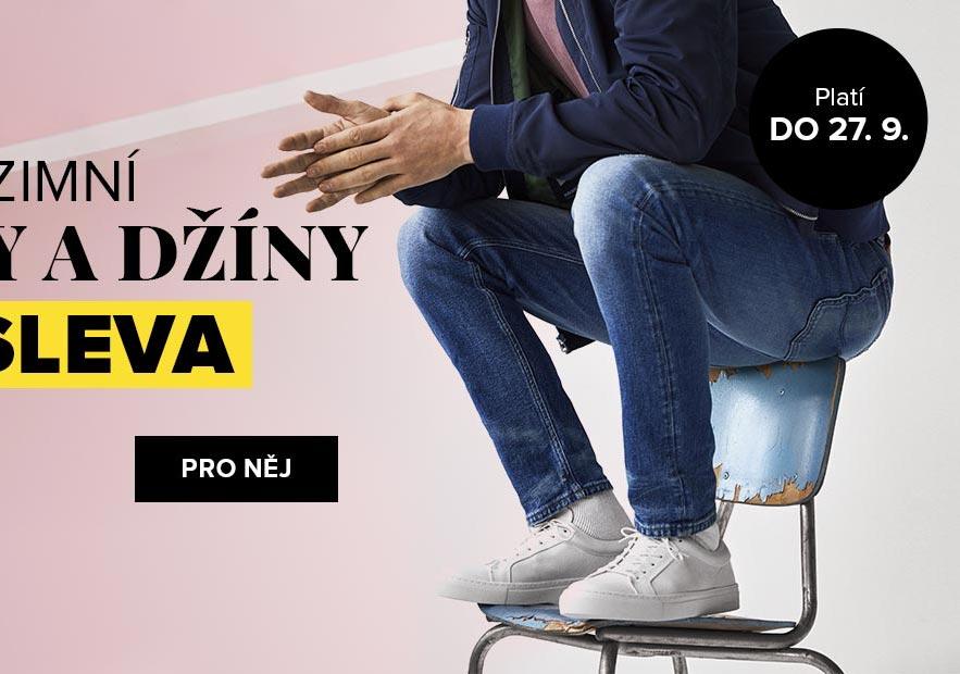 Podzimní kalhoty a džíny: Až 30% sleva PRO NĚJ