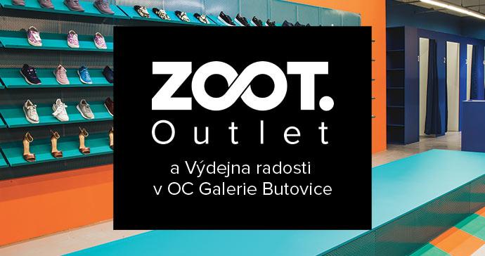 Hlavní reklamní banner pro ZOOT Outlet Butovice