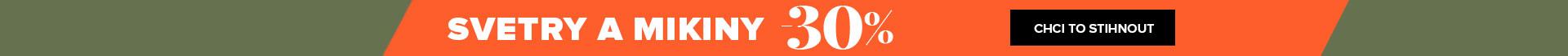 30% sleva na svetry a mikiny