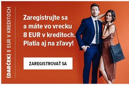 Registrujte sa a dostanete 8 EUR v kreditoch na Váš nákup