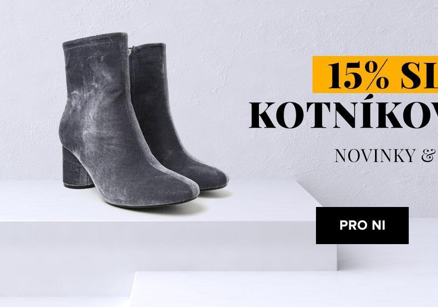 15% sleva na kotníkové boty