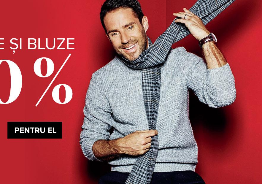 Pulovere și bluze cu 30% reducere