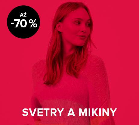 Až 70% sleva na dámské svetry a mikiny