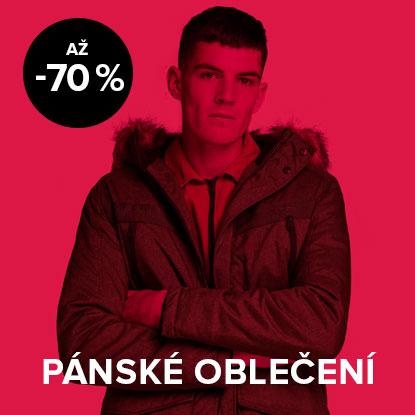 Až 70% sleva na pánské oblečení