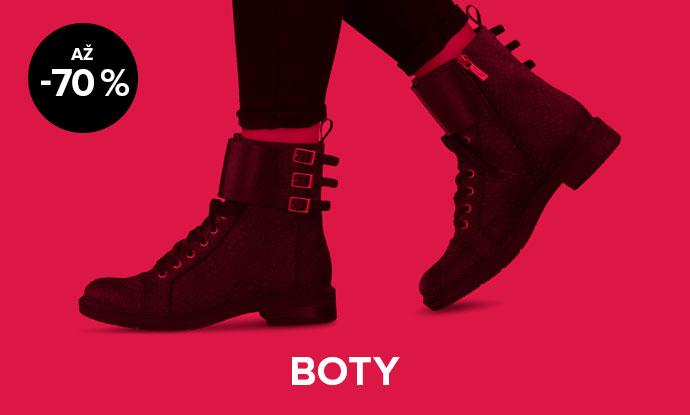 Až 70% sleva na dámské boty