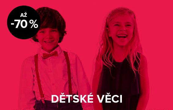 Až 70% sleva na dětské věci