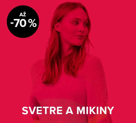 Až 70 % zľava na dámske svetre a mikiny