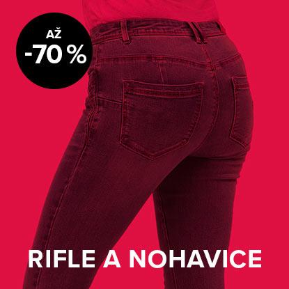 Až 70 % zľava na rifle a nohavice