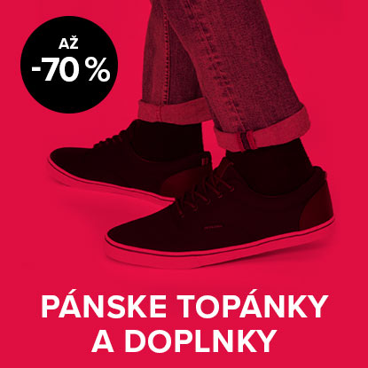 Až 70 % zľava na pánske topánky a doplnky
